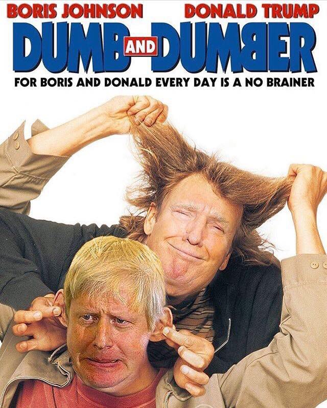 dumm und dümmer - Trump und Johnson